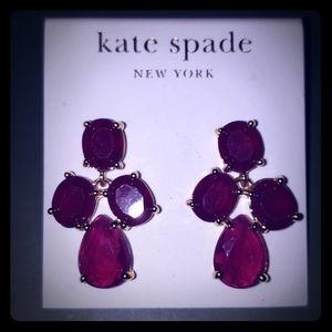 Kate Spade Moody Plum Earrings